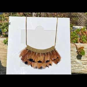Genuine feather necklace
